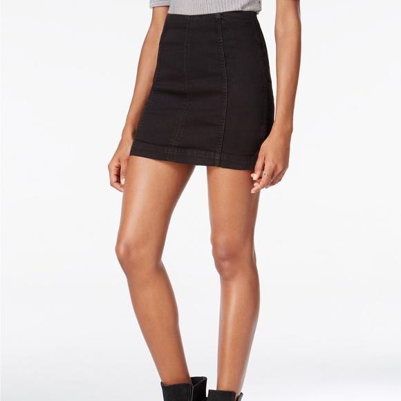 05ac3fec30f67 Free People Dresses   Skirts - Free People Black Modern Femme Denim Mini  Skirt